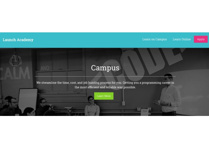 Launch Academy Homepage Mockup – screenshot 2