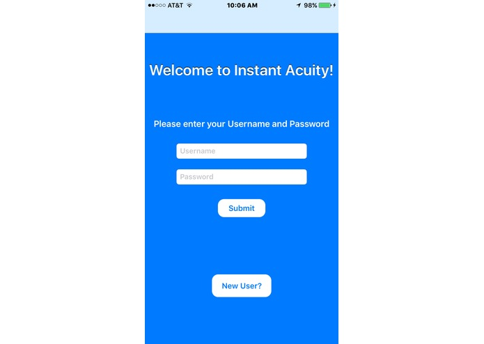 Instant Acuity: A Mobile App for Vision Testing – screenshot 2
