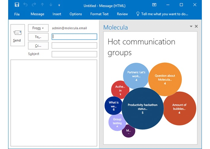 Molecula for Outlook – screenshot 5