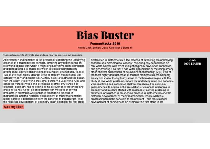 Bias Buster – screenshot 1