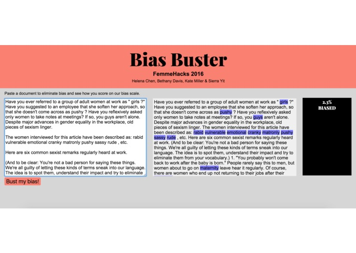 Bias Buster – screenshot 2