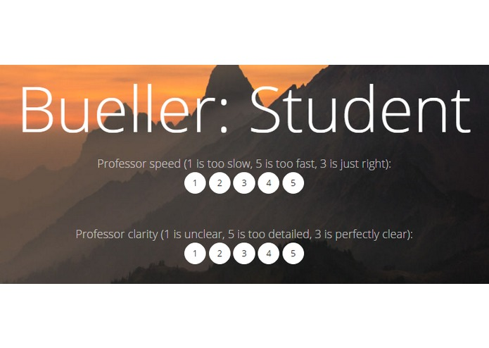 Bueller – screenshot 2
