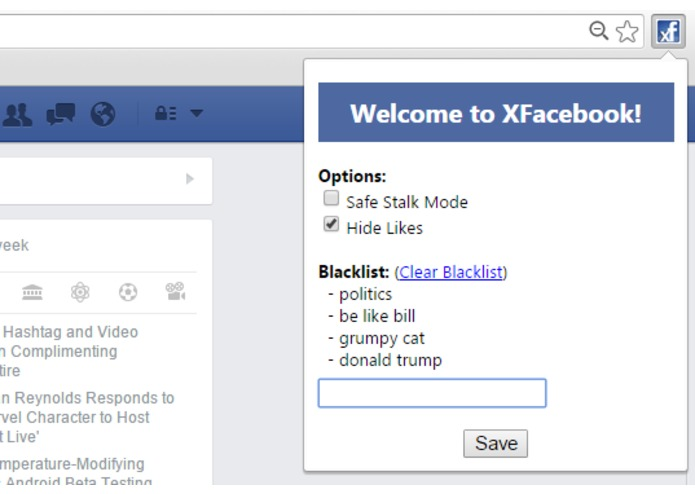 XFacebook – screenshot 1