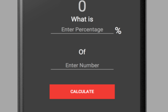 First Android App To Calculate Percentage of a number