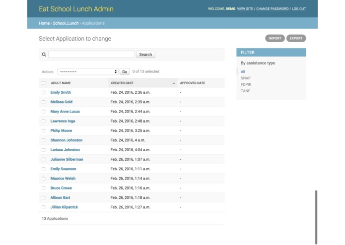 Eat School Lunch Submission – screenshot 4