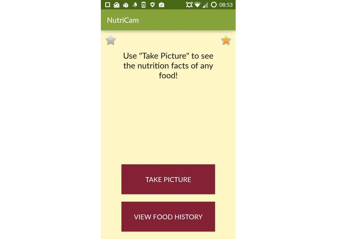 NutriCam – screenshot 2
