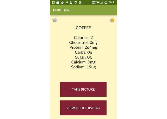 NutriCam – screenshot 4