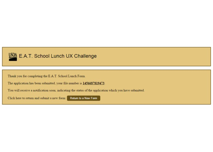 USDA Lunch UX Form – screenshot 7