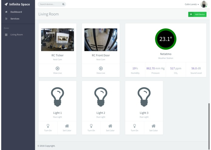 Infinite Space | Smart Home Automation – screenshot 2