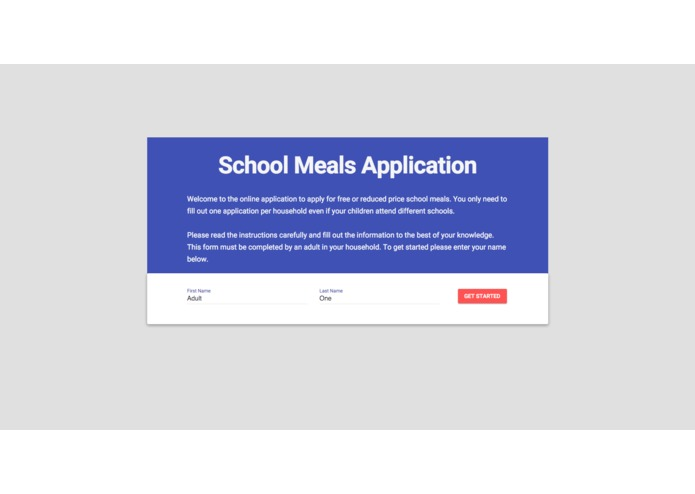 E.A.T School Lunch UX Challenge – screenshot 1