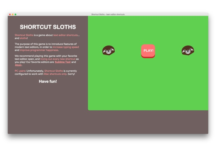 Shortcut Sloths – screenshot 2