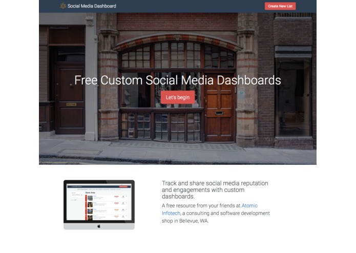 Social Media Dashboard by Atomic Infotech – screenshot 1