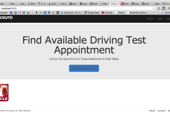 Auto-dectected Driving Test Schedule System