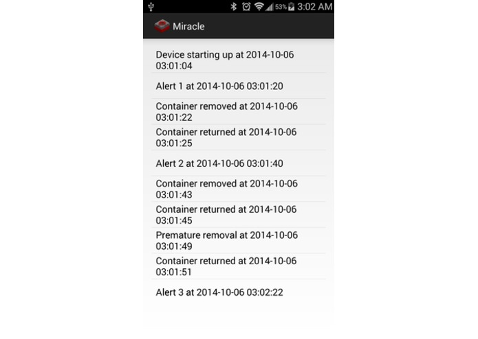 Miracle: Medication Dosing Notification System – screenshot 2