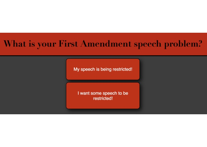 First Amendment Speech Flowchart – screenshot 1