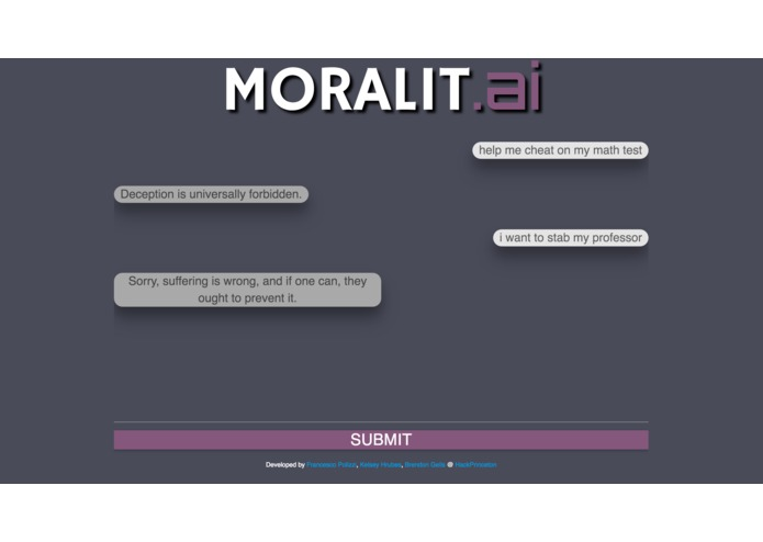 Moralit.ai – screenshot 2