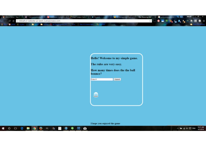 Blue Bouncing Ball – screenshot 1