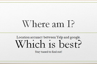 Location Accuracy: Yelp vs Google