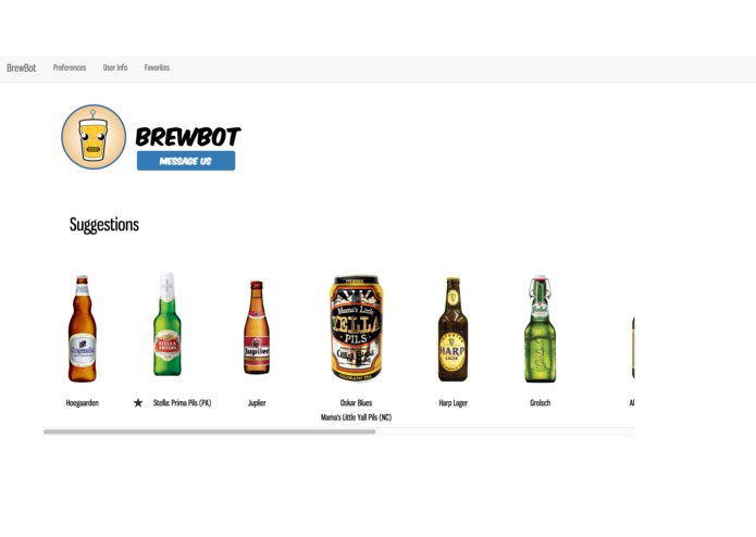 Brewbot - Beer Recommendations Platform with chatbot. – screenshot 1