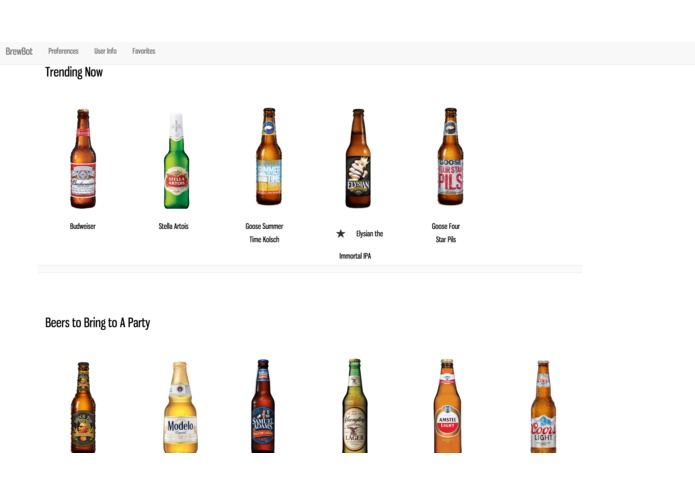 Brewbot - Beer Recommendations Platform with chatbot. – screenshot 2