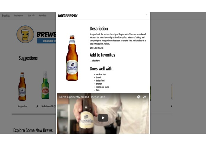 Brewbot - Beer Recommendations Platform with chatbot. – screenshot 3