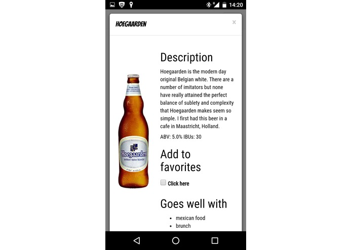 Brewbot - Beer Recommendations Platform with chatbot. – screenshot 5