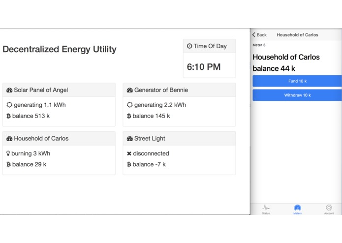Decentralized Energy Utility – screenshot 1