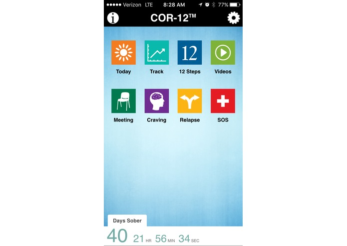 COR-12 App for Opioid Recovery – screenshot 1