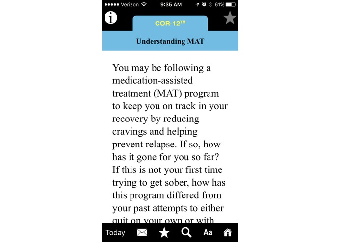 COR-12 App for Opioid Recovery – screenshot 4
