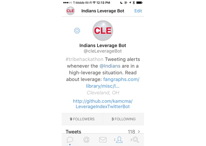 @cleLeverageBot – screenshot 2
