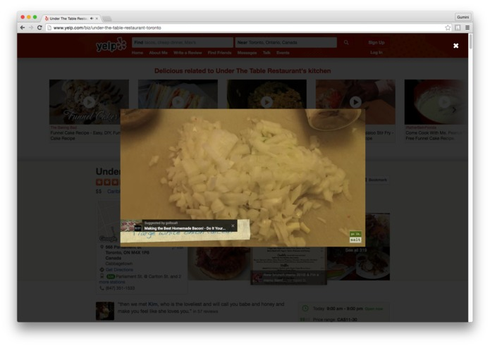 BroadbandTV: Yelp Video Augmenter – The Yelp's Recipes – screenshot 2