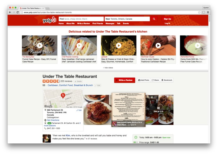 BroadbandTV: Yelp Video Augmenter – The Yelp's Recipes – screenshot 3