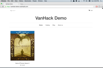 Shopify-Vanhack-Demo