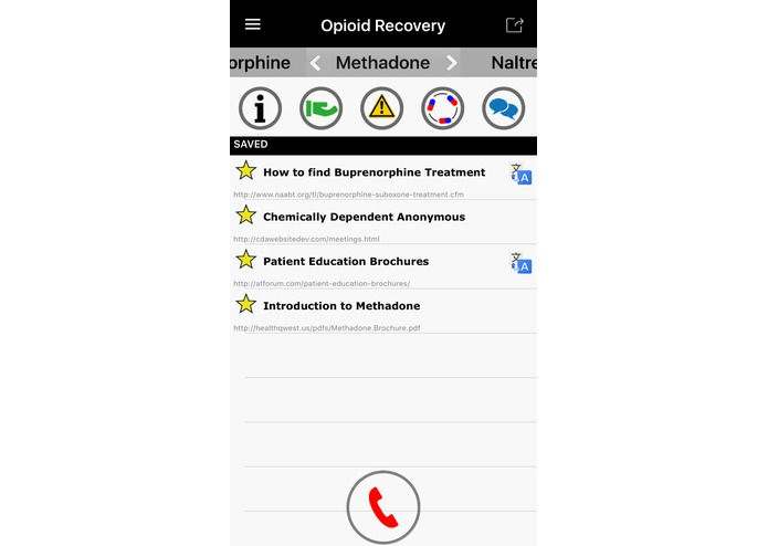 Opioid Recovery Pocket Guide – screenshot 2