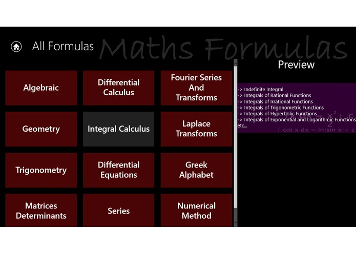 MathsFormulas – screenshot 3
