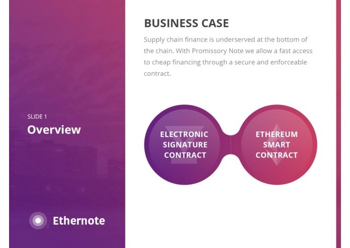 Ethernote - Promissory Note on Ethereum Smart Contract – screenshot 2