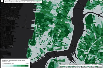 NYGeog's Maps Over Time NYC Trees Count Data Jam