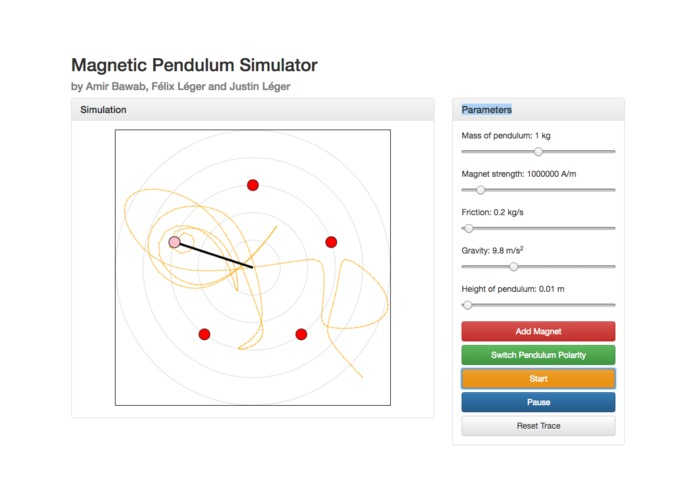 Chaotic Magnetic Pendulum – screenshot 1