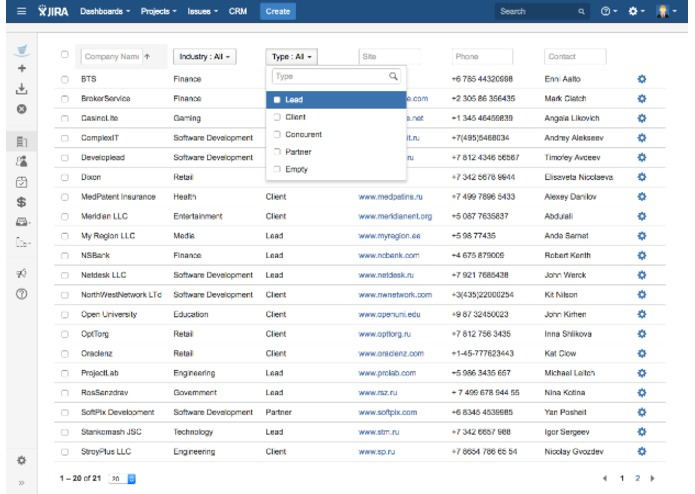 CRM for JIRA – screenshot 5