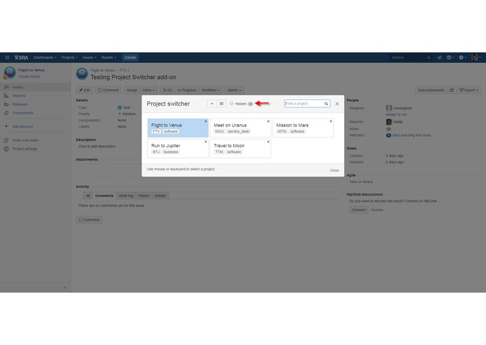 Project Switcher for JIRA – screenshot 6