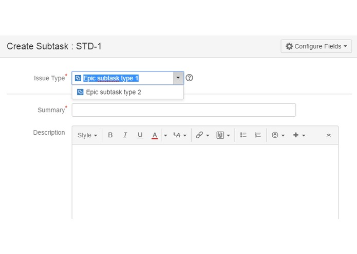 Issue Subtask Types for JIRA – screenshot 3
