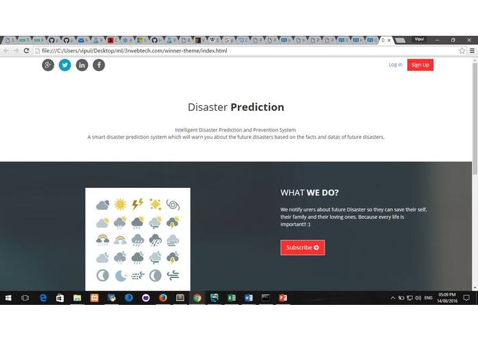 Intelligent Disaster Prediction and Prevention System – screenshot 3