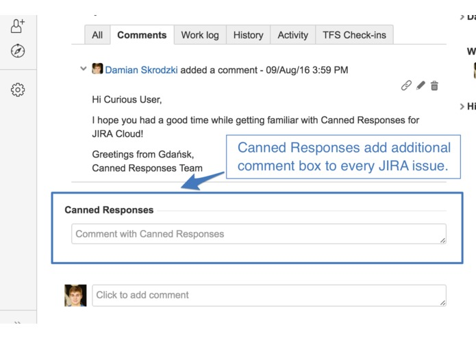 Canned Responses for JIRA Cloud – screenshot 2