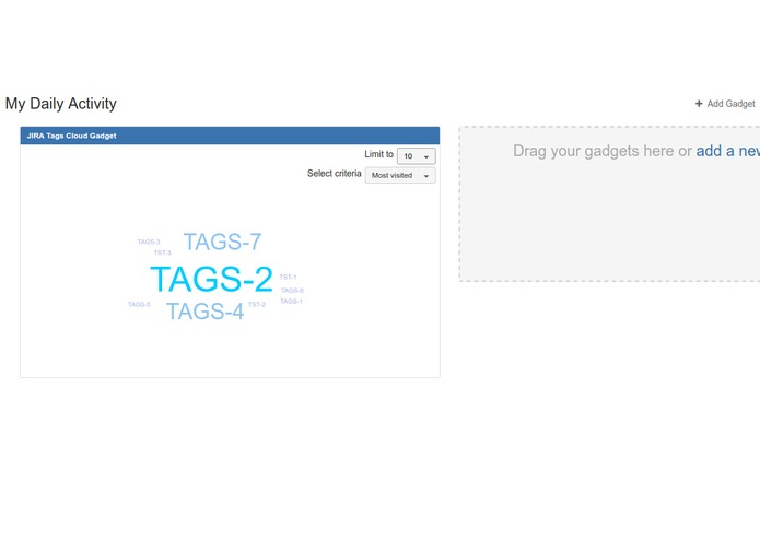 Tags Cloud for JIRA – screenshot 1