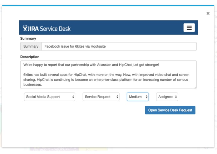 Hootsuite for JIRA Service Desk – screenshot 1