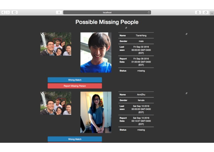 Find Missing People – screenshot 2