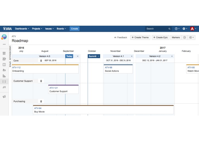 Easy Agile Roadmaps for JIRA – screenshot 1