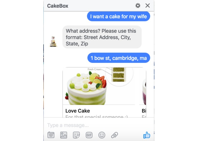 CakeBoxBot – screenshot 1