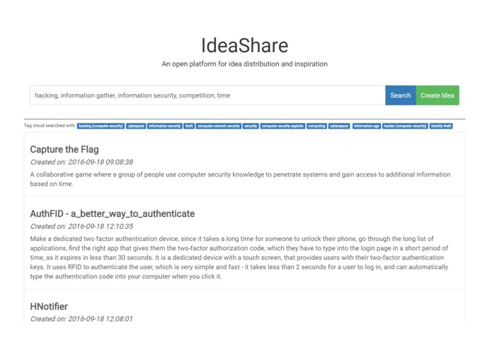 IdeaShare – screenshot 1
