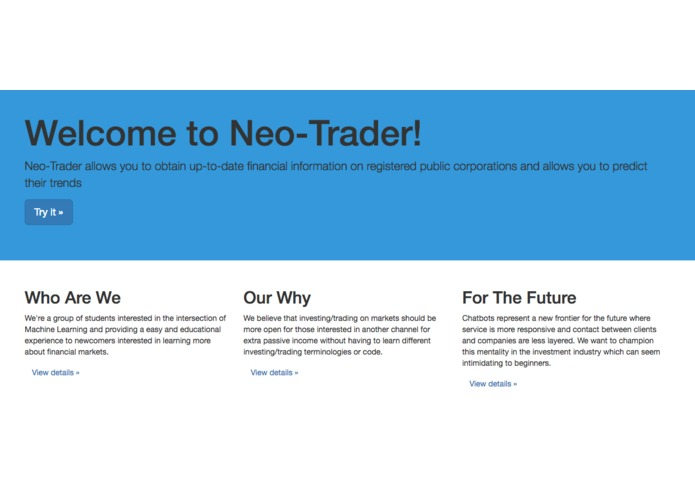 neo-trader – screenshot 1